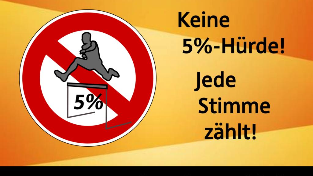 Keine 5%-Hürde